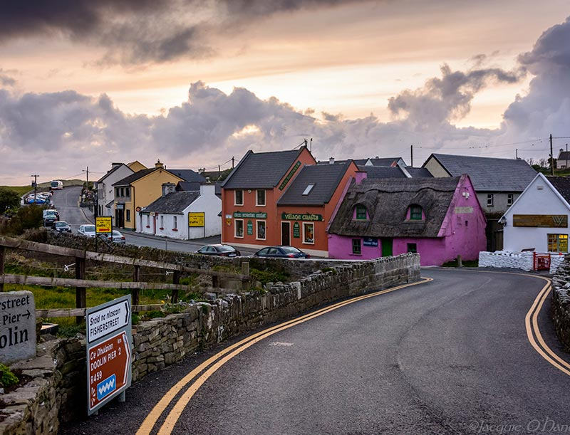 Fisher Street, Doolin is where you will find O'Connors Pub, gift shops and cafe's